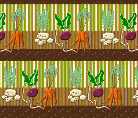 underground friends fabric by claudiavv on Spoonflower - custom fabric