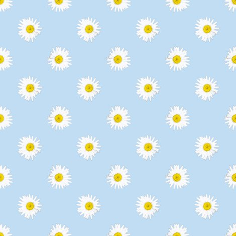 Shasta daisies on light blue fabric bargello stripes - Light blue linen wallpaper ...