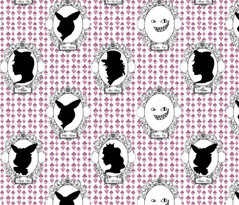 Alice in Cameoland fabric by blackwood on Spoonflower - custom fabric