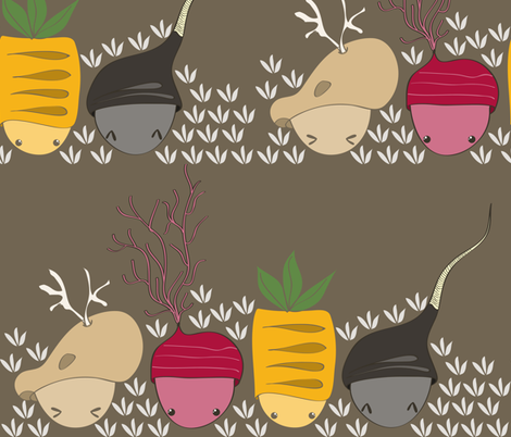 Baby Tubers fabric by majobv on Spoonflower - custom fabric