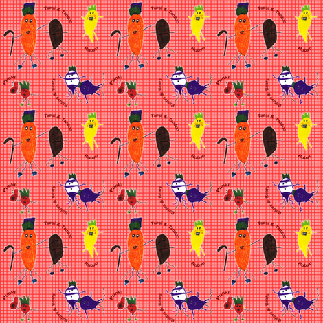 Dancing with the Roots fabric by eislinn on Spoonflower - custom fabric
