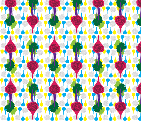 Primary_Beets fabric by kimnb on Spoonflower - custom fabric
