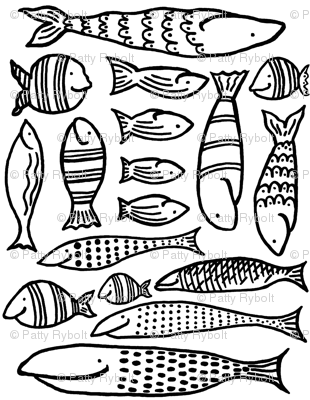 Funky Fish (black & white)