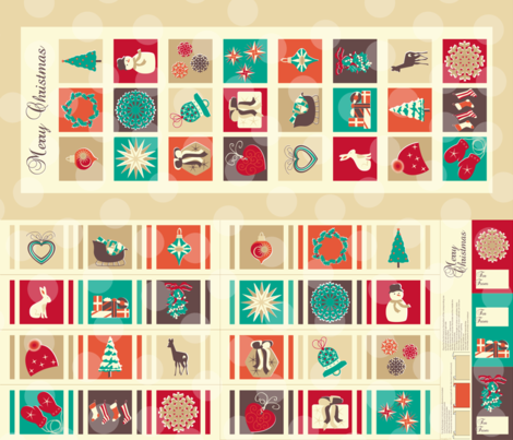 North advent calendar fabric by mariao on Spoonflower - custom fabric