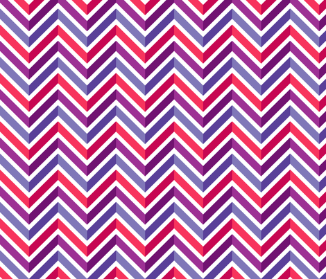 Mod Chevron (Piccadilly Punch) fabric by leighr on Spoonflower - custom fabric