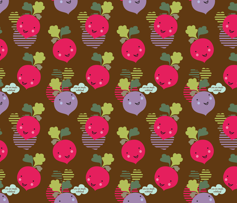 You are simply radishing! fabric by amel24 on Spoonflower - custom fabric