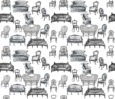 Antique Seats fabric by victoriagolden on Spoonflower - custom fabric