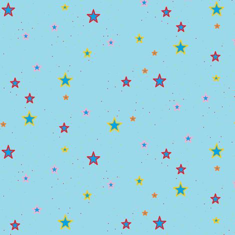 American Stars coord fabric by nekanen_designs on Spoonflower - custom fabric