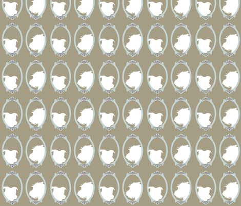 Millie & Bogart fabric by theladyinthread on Spoonflower - custom fabric