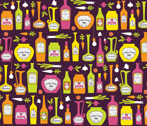 Root Cellar (mod) fabric by jennartdesigns on Spoonflower - custom fabric