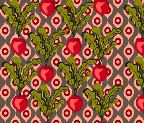Radish patch fabric by lauradejong on Spoonflower - custom fabric