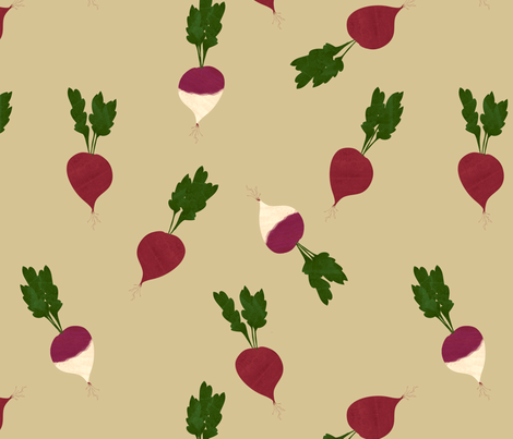 Fat Beets fabric by jenimp on Spoonflower - custom fabric