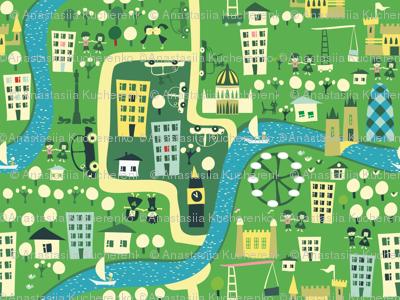 cartoon london map