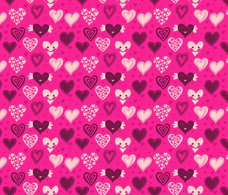 cute girly hearts fabric by anastasiia-ku on Spoonflower - custom fabric