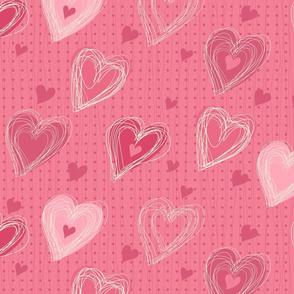 cute pink hearts