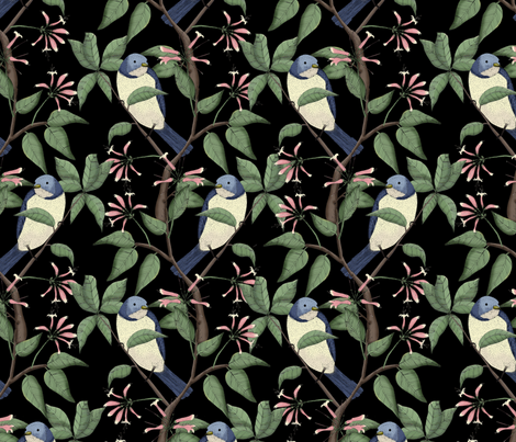 Bird Spotting (large print) fabric by lydia_meiying on Spoonflower - custom fabric