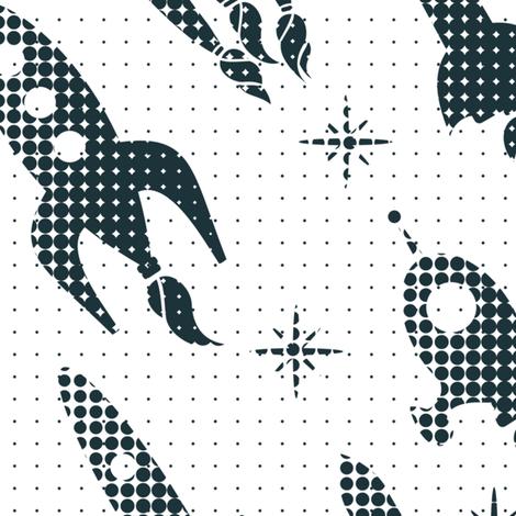 space ships fabric by anastasiia-ku on Spoonflower - custom fabric