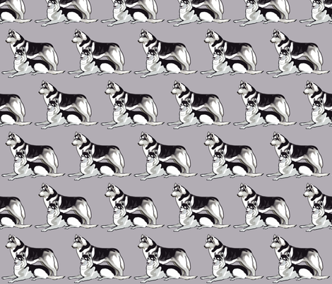 Siberian Husky fabric fabric by dogdaze_ on Spoonflower - custom fabric