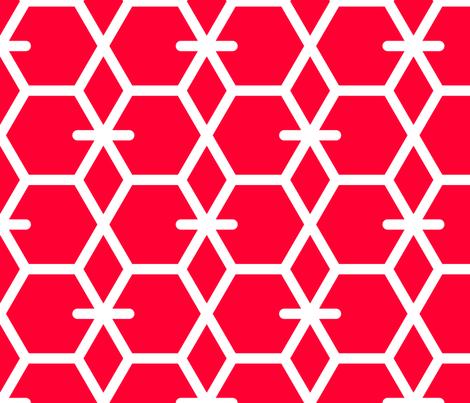 Tortoiseshell 2A (Vermilion) fabric by nekineko on Spoonflower - custom fabric