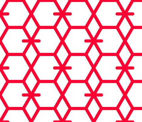 Tortoiseshell 2B (Vermilion) fabric by nekineko on Spoonflower - custom fabric
