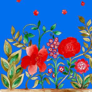 chèche_fleurie_fond_bleu