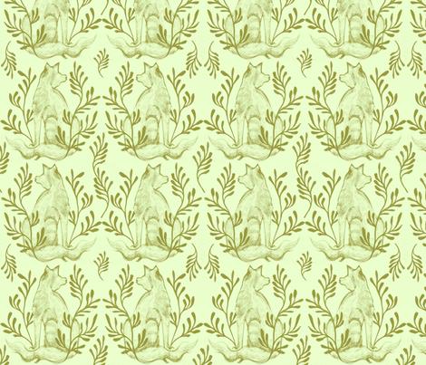 Foxy Loxy Laurel fabric by wednesdaysgirl on Spoonflower - custom fabric