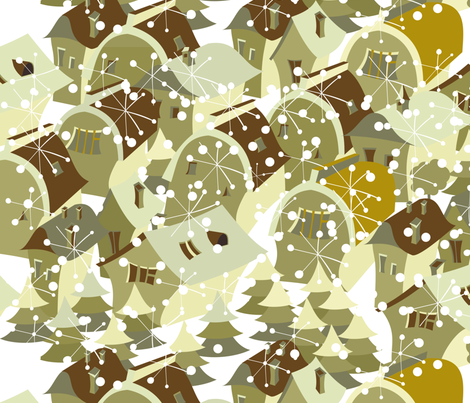 houses in winter fabric by anastasiia-ku on Spoonflower - custom fabric