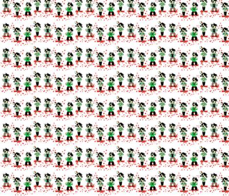 Zombie Splatter fabic fabric by kiwicuties on Spoonflower - custom fabric