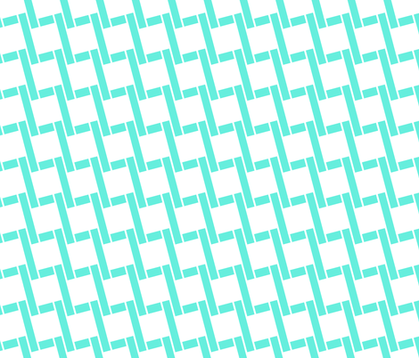 Chained by Boxes-Turquoise fabric by fleamarkettrixie on Spoonflower - custom fabric