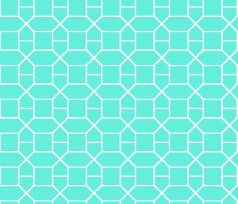turquoise gem fabric by fleamarkettrixie on Spoonflower - custom fabric
