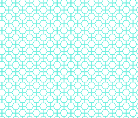 Turquoise Lattice fabric by fleamarkettrixie on Spoonflower - custom fabric