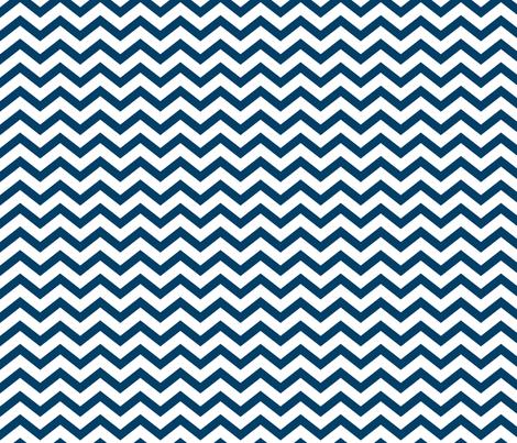 chevron navy blue fabric by misstiina on Spoonflower - custom fabric