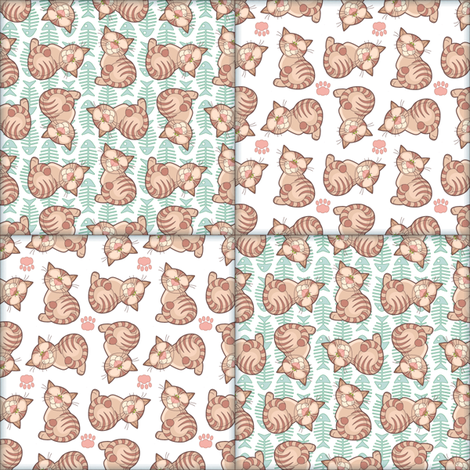 Billy Cat Cheat Quilt fabric by woodmouse&bobbit on Spoonflower - custom fabric