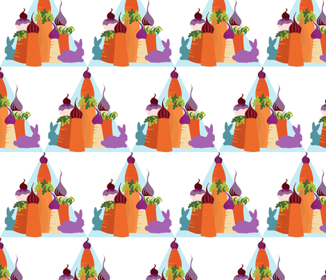 Carrot Castle Bunnies fabric by meredithjean on Spoonflower - custom fabric