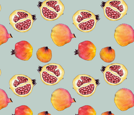 pomegranate fabric by marinamolares on Spoonflower - custom fabric