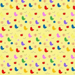 Birdies & Apples in yellow