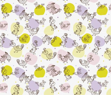 Birdies fabric by anastasiia-ku on Spoonflower - custom fabric