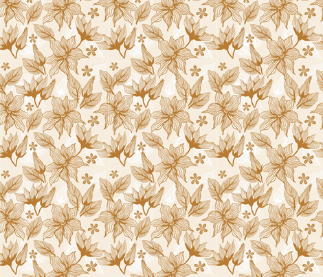 vector flowers fabric by anastasiia-ku on Spoonflower - custom fabric