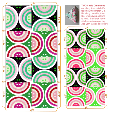 Two circles ornaments fabric by colorwayart on Spoonflower - custom fabric