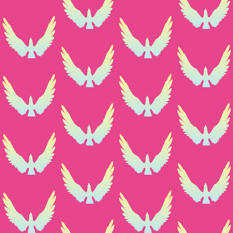 Eagles 2, S fabric by animotaxis on Spoonflower - custom fabric