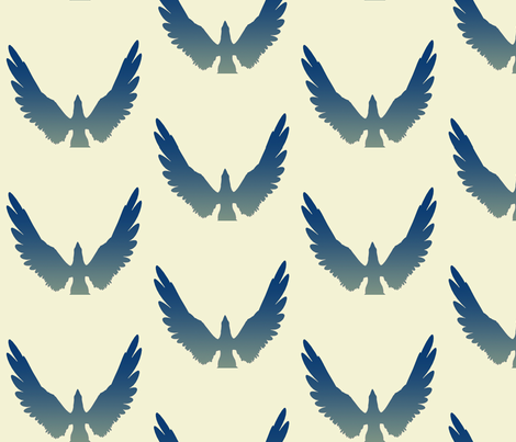 Eagles 3, L fabric by animotaxis on Spoonflower - custom fabric