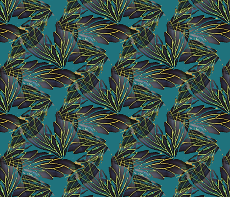 A-flutter fabric by nalo_hopkinson on Spoonflower - custom fabric