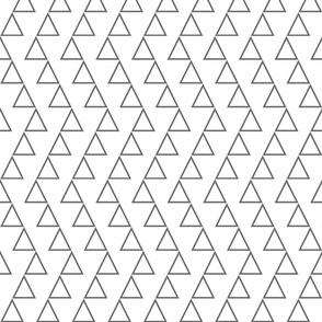 Dancing triangles- on  white