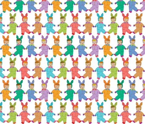 Babies - full colour fabric by meredithjean on Spoonflower - custom fabric