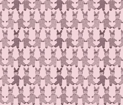Babies - pink for girls fabric by meredithjean on Spoonflower - custom fabric