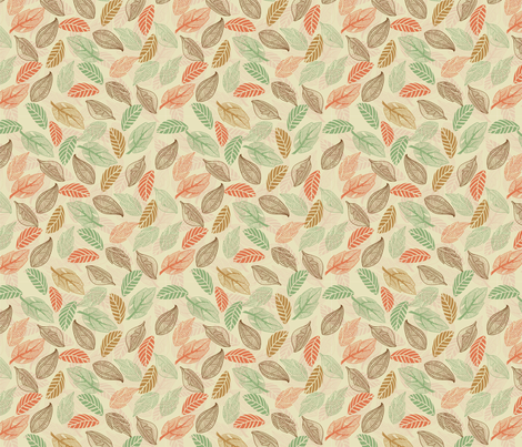 Leaves in vector fabric by anastasiia-ku on Spoonflower - custom fabric