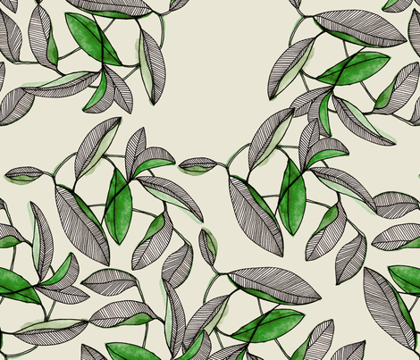 MULTILEAVES fabric by marinamolares on Spoonflower - custom fabric