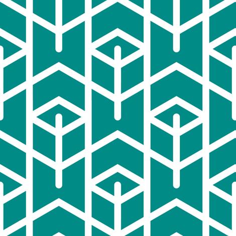 Tortoiseshell 1A (Aquamarine) fabric by nekineko on Spoonflower - custom fabric