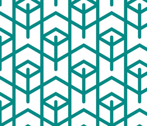 Tortoiseshell 1B (Green) fabric by nekineko on Spoonflower - custom fabric