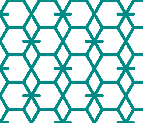 Tortoiseshell 2B (Aquamarine) fabric by nekineko on Spoonflower - custom fabric